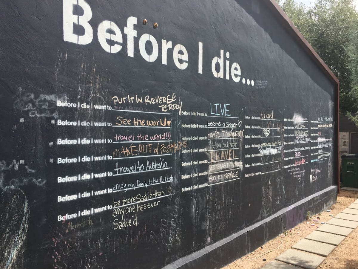 Before I Die mural austin