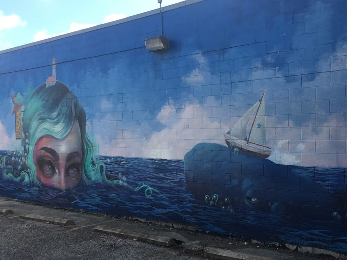 Mermaid mural Austin