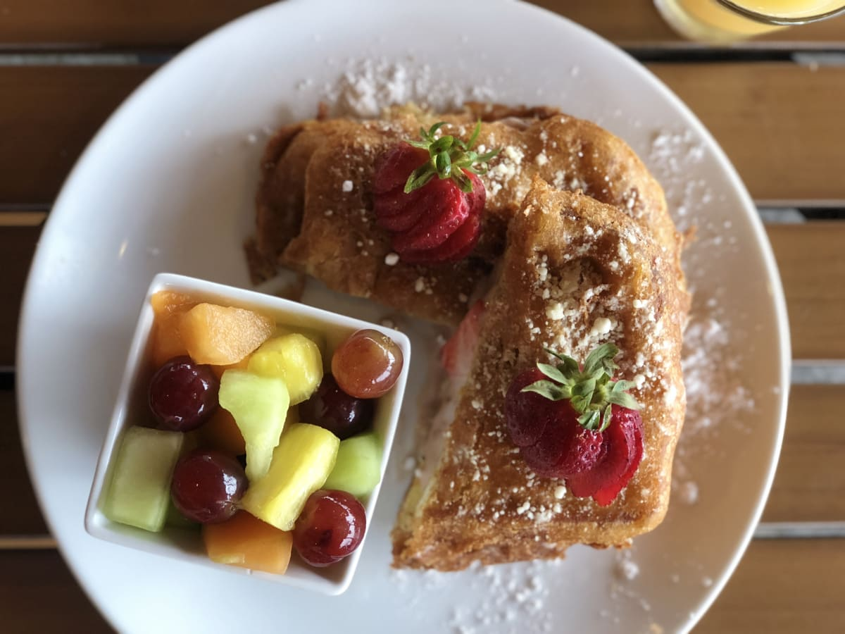Pinstack stuffed French toast