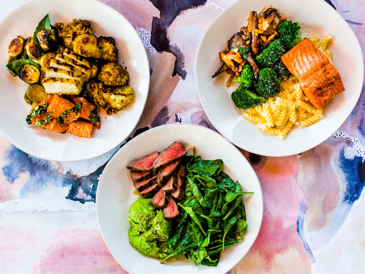 Trio of dishes from Flower Child