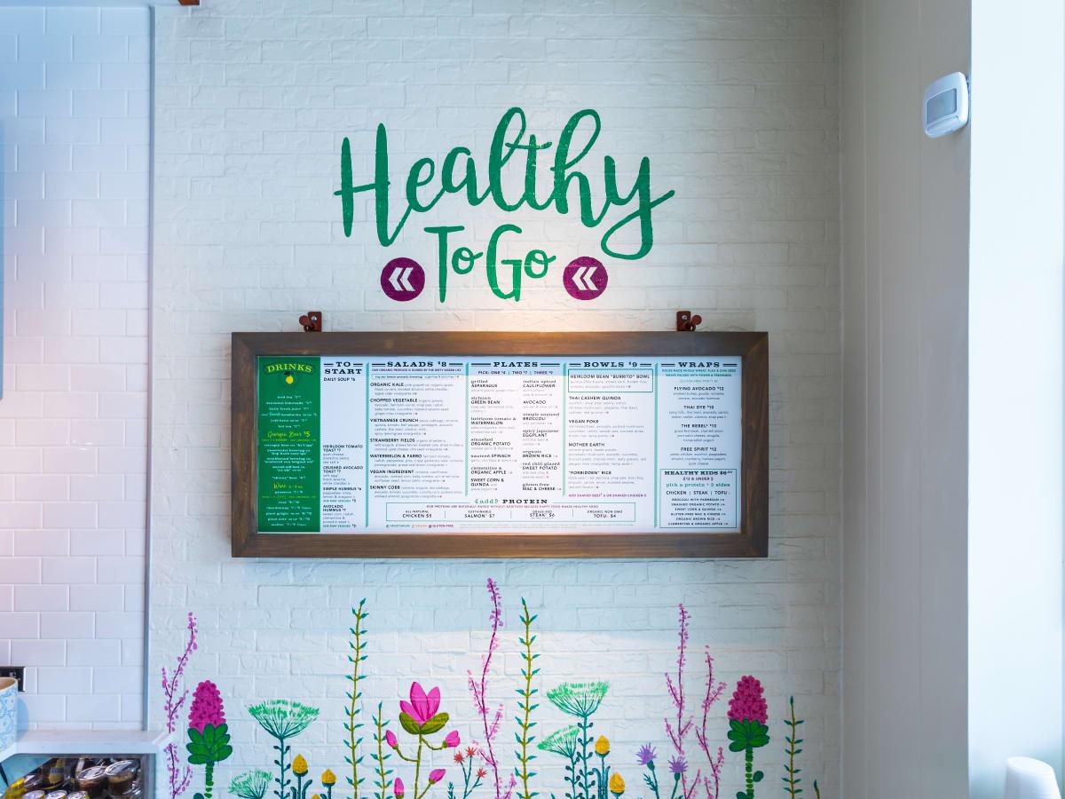 Flower Child menu board