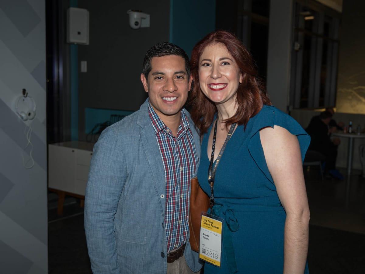 Texas Tribune Festival 2018 VIP Party at Google Luis Guido Amanda Zamora