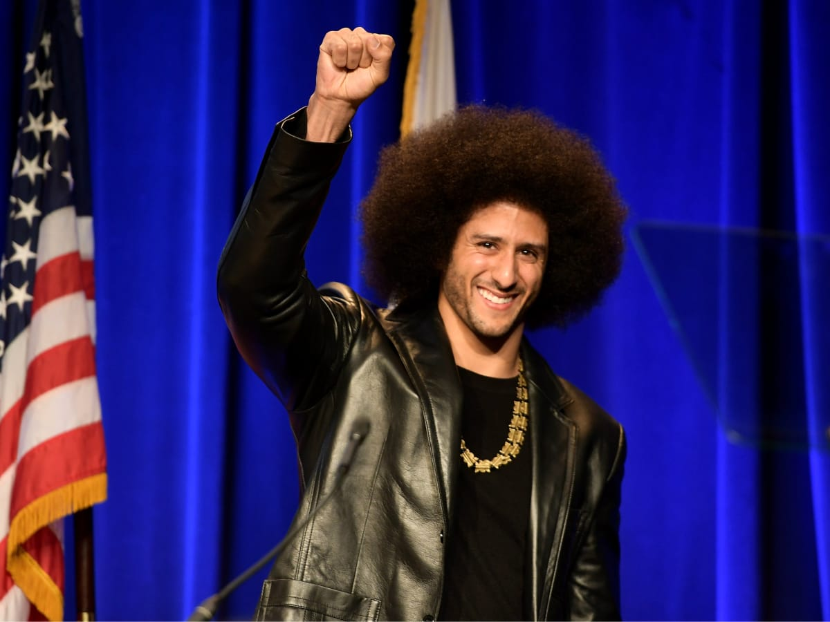 Colin Kaepernick fist raise