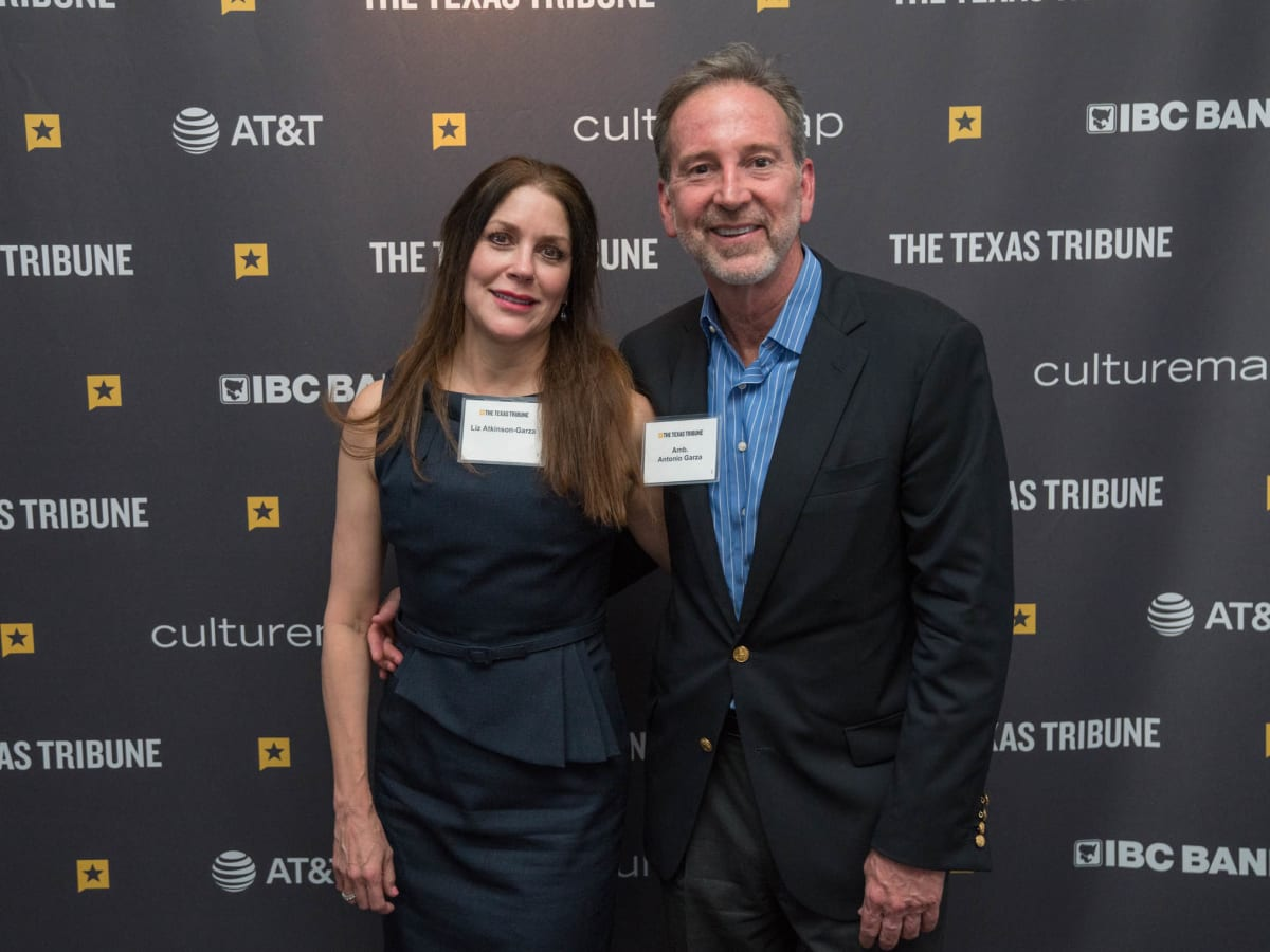 Texas Tribune Festival 2018 VIP Cocktail Hour at Brazos Hall Liz Atkinson-Garcia Ambassador Antonio Garza