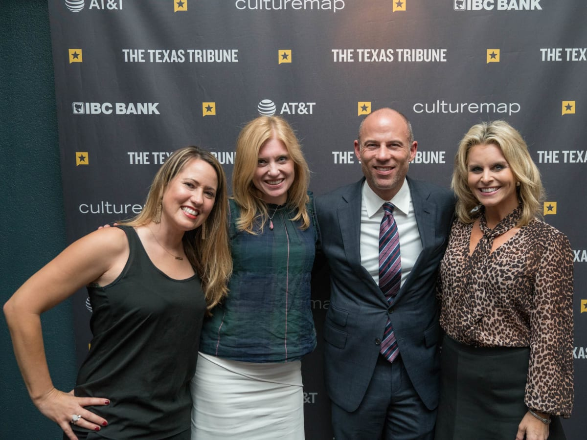 Texas Tribune Festival 2018 VIP Cocktail Hour at Brazos Hall Adrienne Elrod Marsha Catron Erin McPike Michael Avenatti