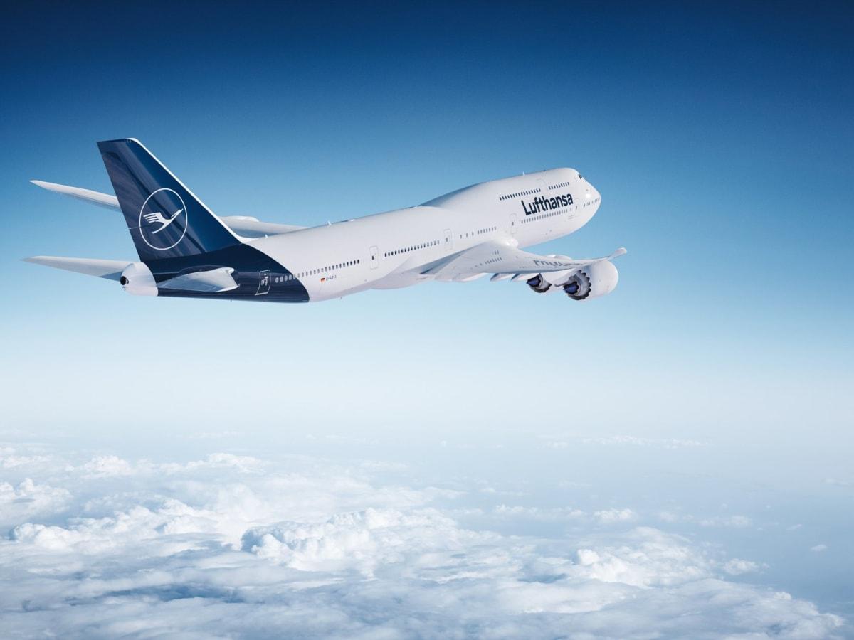 Lufthansa airplane sky