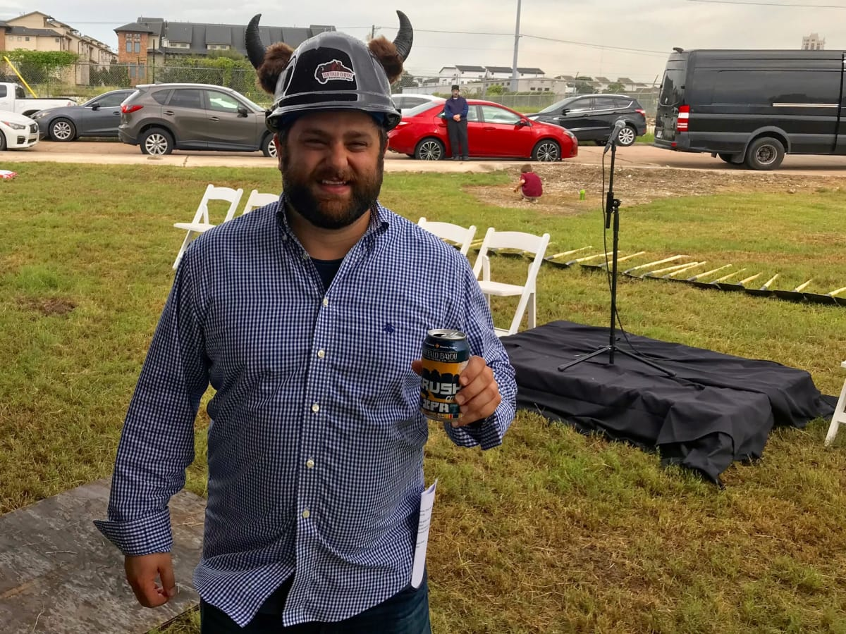 Buffalo Bayou Brewing groundbreaking Rassul Zarinfar