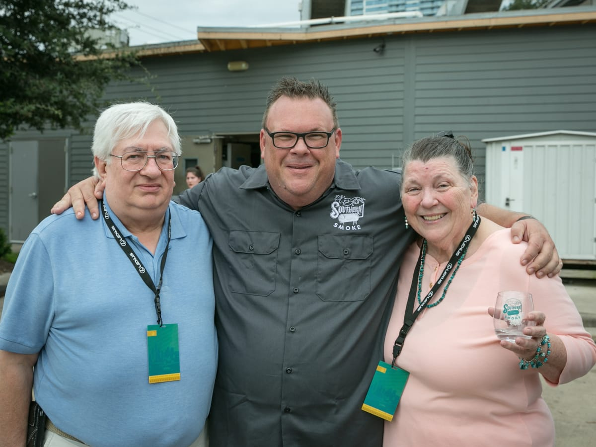 Southern Smoke 2018 Chris Shepherd with parents