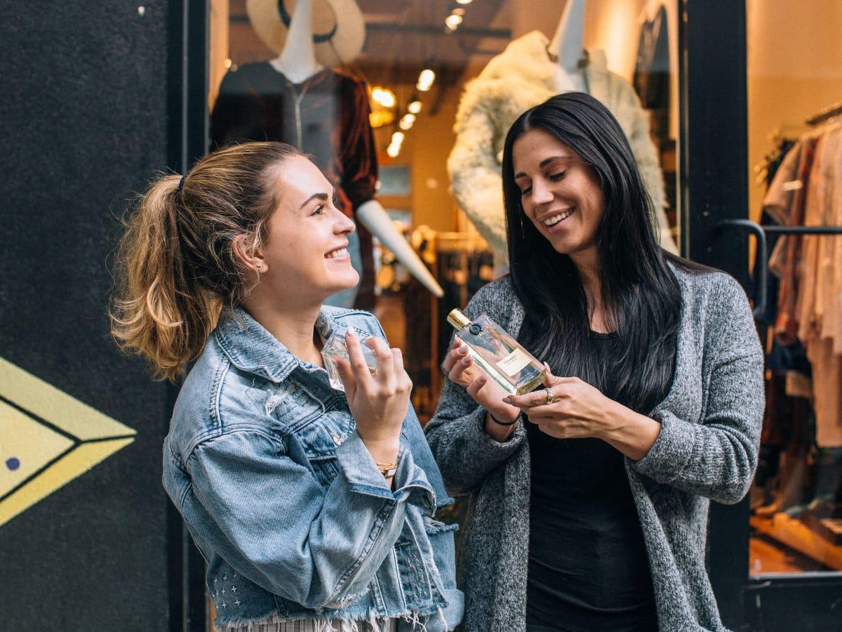 Girls with perfume