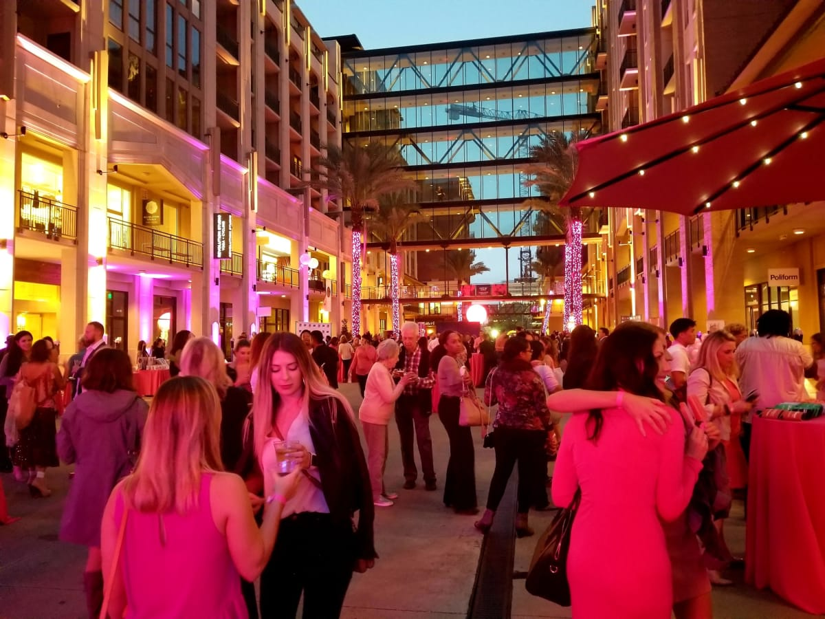 Pink Party 2018 West Ave crowd