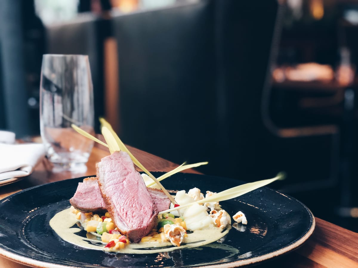 Main Kitchen JW Marriott roasted duck breast