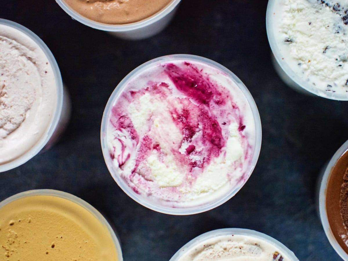 Dolcezza Gelato marscapone berry gelato