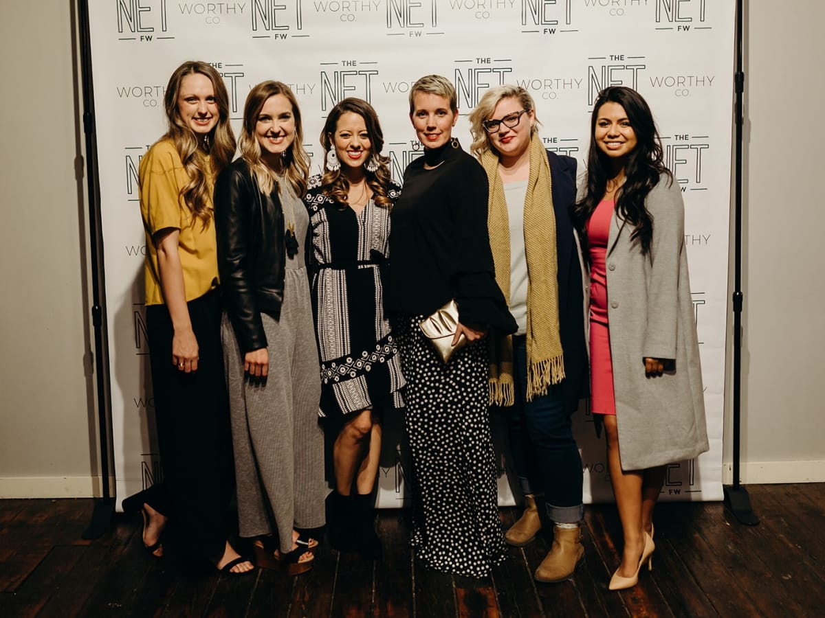 Eva Walker, Sarah Bowden, Melissa Ice, Holland Sanders, Alex Cambora, Karolam Ramirez, The Net Worthy Co launch party