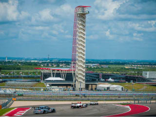 Circuit of the Americas tower and race track