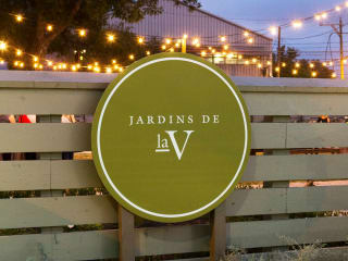 Jardins de laV Austin restaurant event space sign 2015