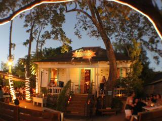 Licha's Cantina Austin restaurant exterior night east sixth street