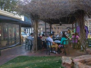 Patio at Dream Cafe in the Quadrangle