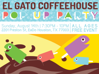 El Gato Coffeehouse Pop-Up Party