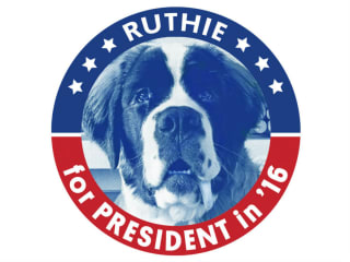 Saint Bernard presents Ruthie for President 2016