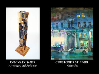"Hooks-Epstein Galleries presents ""Asymmetry and Perimeter"" and ""obscurities"" opening reception"