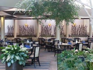 Cafe on the Lake inside the Omni Houston Hotel at Westside