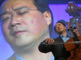 Yo-Yo Ma, cello, performing, concert
