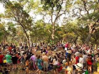 drum circle at Eeyore's Birthday Party