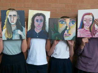 The Girls' School of Austin's Self Portrait Show