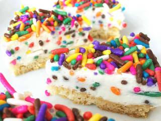 Second Bar and Kitchen cheesecake semifreddo dessert sprinkles