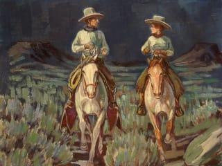 William Reaves and Sarah Foltz Fine Art present Of A Cowboy's Sentiment