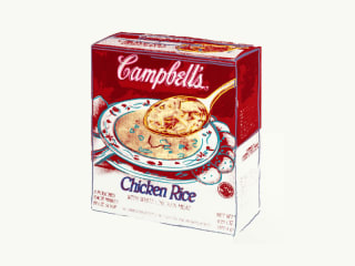 Campbell's Soup Box (Chicken Rice)  |  Andy Warhol (1928-1987)