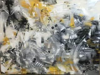 Spring Series Abstract Art by Juliana Ferreyros