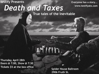 Testify presents Death and Taxes