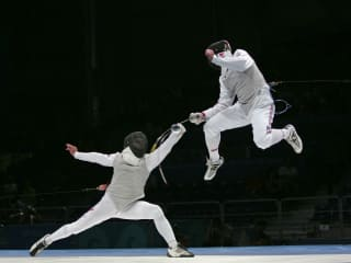 Fencing Athens Olympics / Change of Engagement / Serge Timacheff
