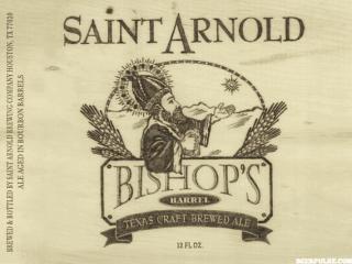 label for St. Arnold Bishop's Barrel