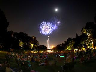 Fireworks during Concerts at the Garden at Fort Worth Botanic Garden