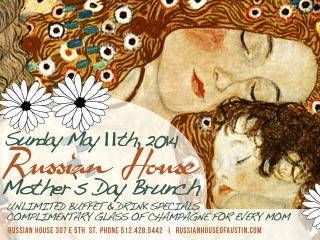 poster for Mother's day Brunch at Russian House