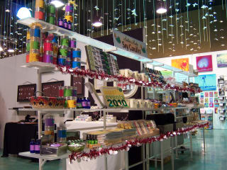 shelves of gifts and presents at the Blue Genie Art Bazaar