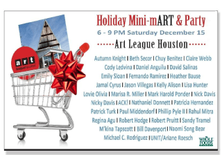 Art League of Houston's Holiday Mini-mART & Party