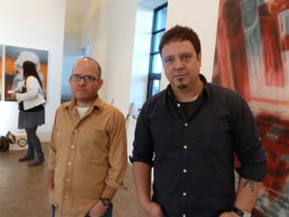 "Artists Michel ""El Pollo"" Perez and Raul Cordero"