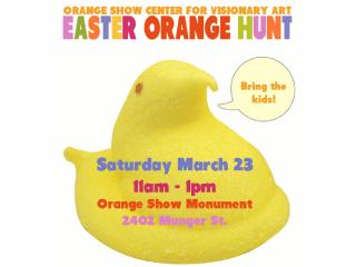 Orange Show's Annual Easter Orange Hunt & PEEPS Art Contest
