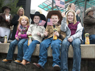 News_021_RodeoHouston parade_February 2012_Ava Smith_Bo Smith_Luke Smith_Audrey Smith (Dad is Rodeo Director Robbie Smith).jpg