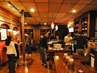 interior of Apothecary Cafe and Wine Bar