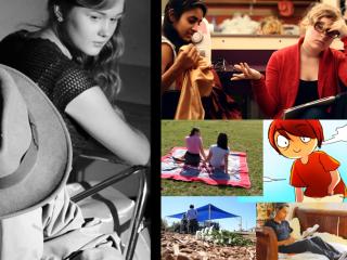 Screenshots from student films for LASA film showcase