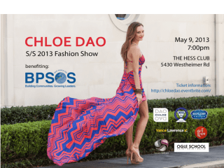 Chloe Dao Spring Summer 2013 Fashion Show Benefiting BPSOS Houston