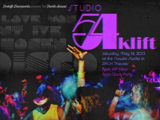 Studio 54klift fundraiser for Forklift Dancework