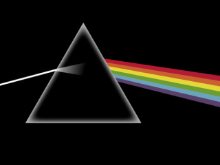 Dark Side of the Moon album cover by Pink Floyd