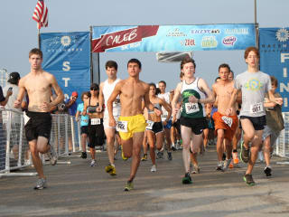 Runners in the 2011 Caleb 5K Run at Shoreline Church