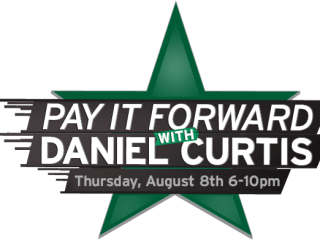 Pay it Forward with Daniel Curtis logo for Lone Star Paralysis Foundation