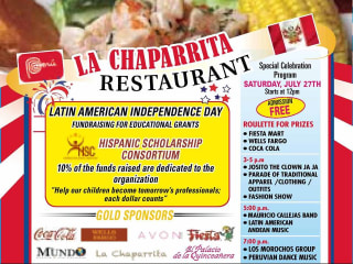 La Chaparrita Latin American independence day flyer